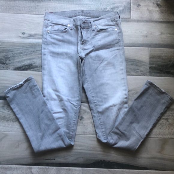 7 For All Mankind Denim - 7 For All Mankind Gray Roxanne Jeans